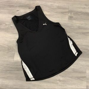 Puma Black & White Open Sides Athletic Tank Top